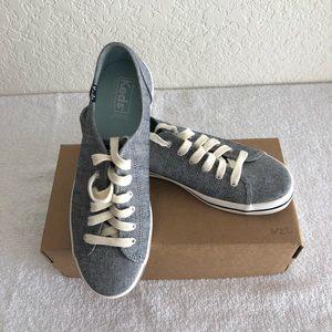 "Keds ""Kickstart"" Chambray Blue Sneakers"